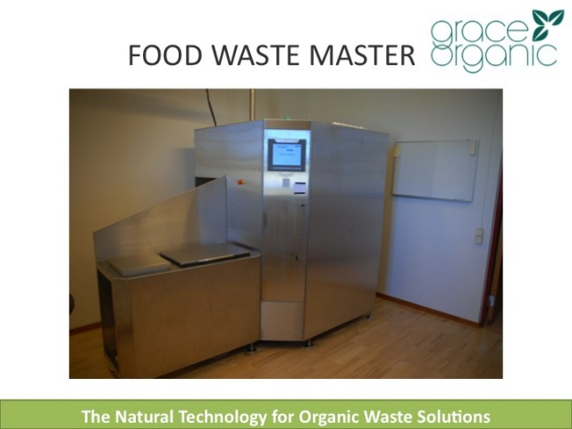 DEO-technology supplied to food waste compost units